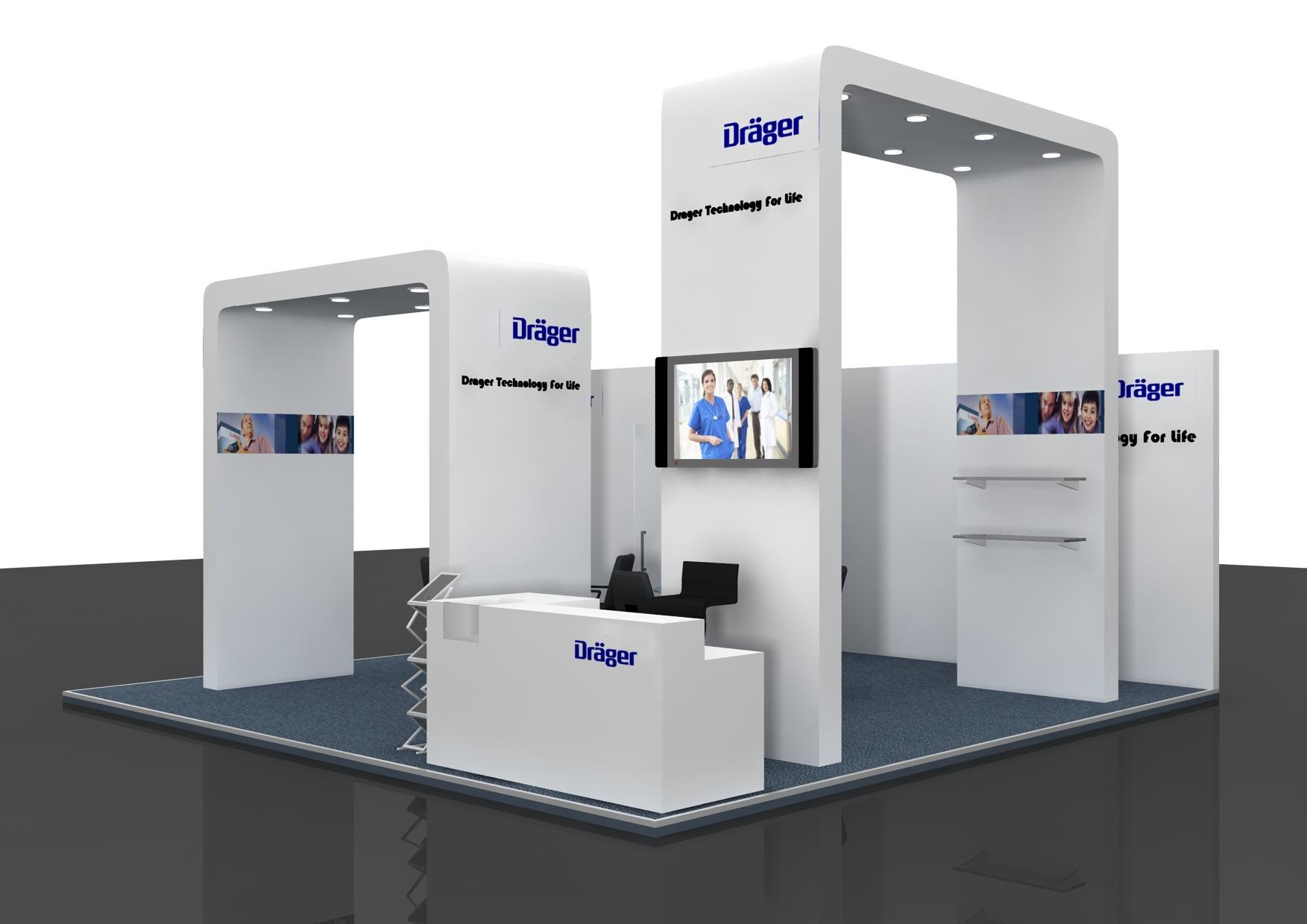 Simple Exhibition Stand Design : Booth contraction designing